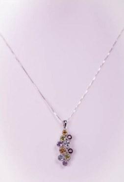 Pandantiv din argint cu diferite pietricele semipretioase_ezust_silver