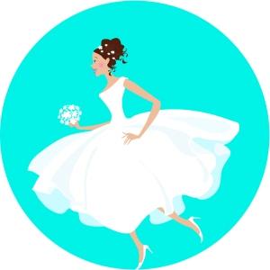 running-bride